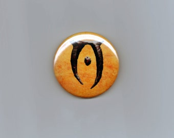 Oblivion Inspired Button Elder Scrolls Fan Art Video Game RPG 2.25""