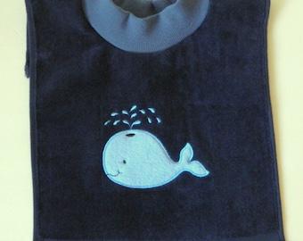 WHALE BIBPink Whale Bibgirls whale bibnautical bibgirls nautical bibminky bibpink chevron bibgirls minky bibgirls personalize bib