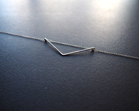Small Oblique Triangle Necklace