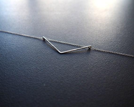 Small Oblique Triangle Necklace