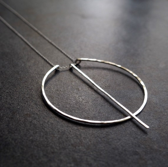 Long Barred Circle Necklace