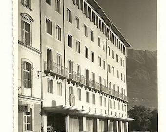 Vintage 1940's Innsbruck Austria Postcard RPPC Old cars