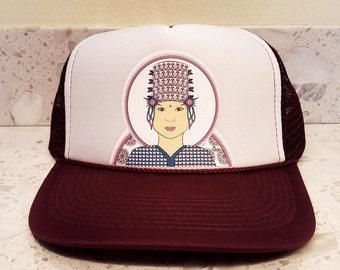 Trucker Hat - Thai inspired Tribal Woman 175de9d5039e