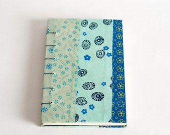 Blue Lokta patch journal 5x7
