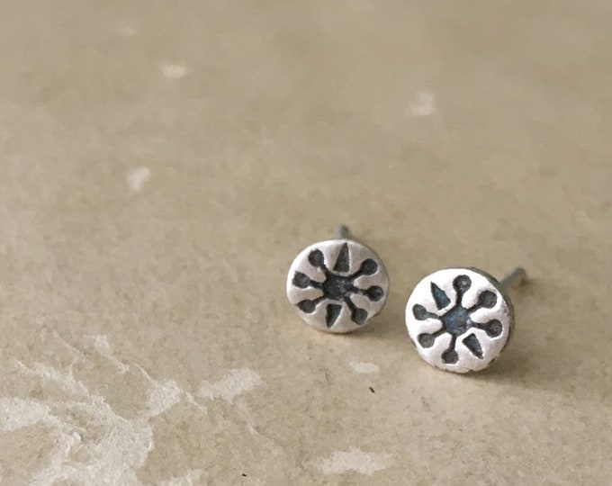 Mini Stud Earrings, Small Silver Studs, Sterling Silver