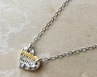 Tiny Heart Choker, Small Silver Heart Necklace, Miniature Jewelry