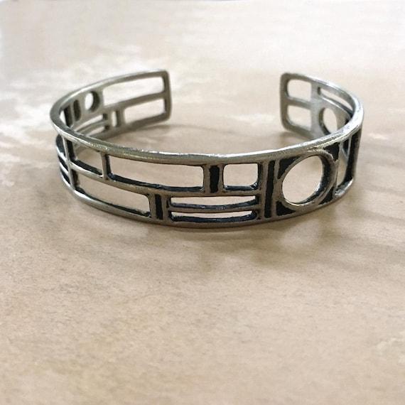 Fathers Day Gift, Bronze Cuff, Geometric Cuff Bracelet, Unisex Bracelet, Mens Cuff Bracelet