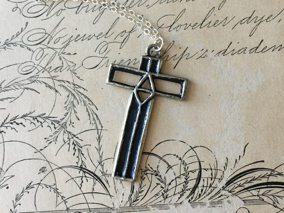 Cross Pendant Necklace, Cross Jewelry, Symbolic Necklace, Meaningful Gifts