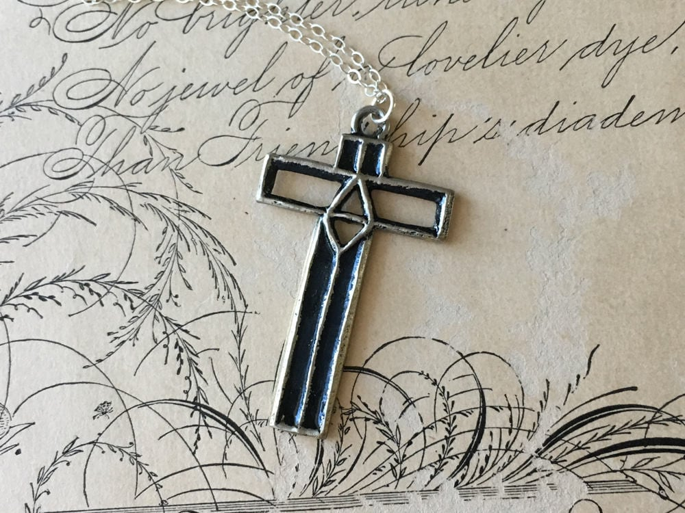 Cross Pendant Necklace Cross Jewelry Symbolic Necklace Meaningful