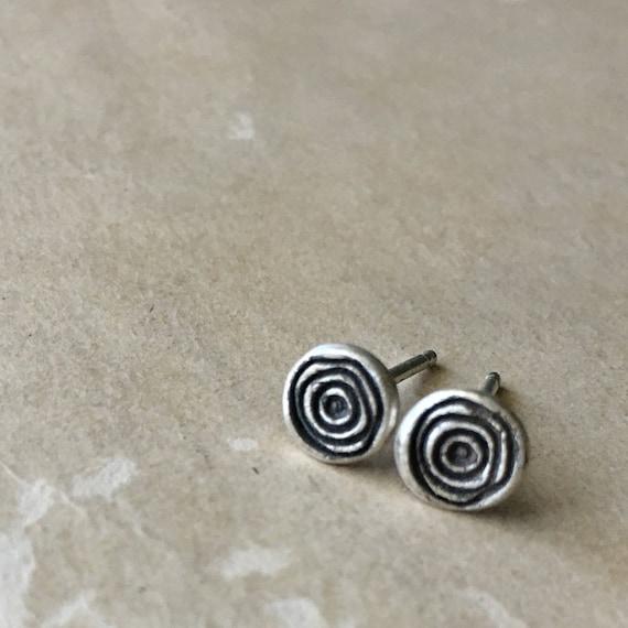 Sterling Silver Spiral Earrings | Tiny Earrings | Stud Earrings | Small Post Earrings