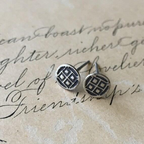 Tiny Stud Earrings | Small Stud Earrings | Silver Studs