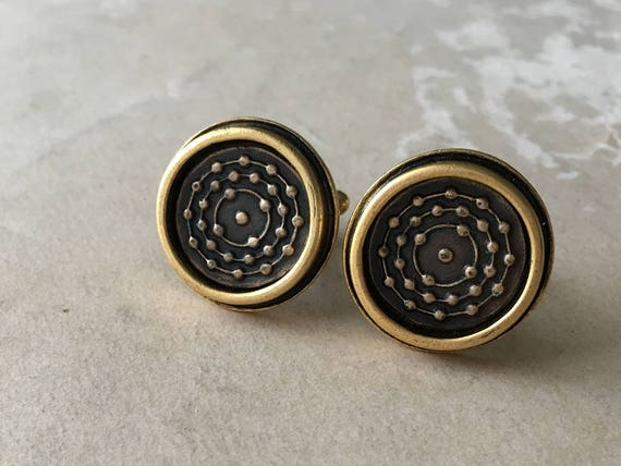 Gold Cuff Links, Silver Cufflinks, Father Gift, Gifts for Men, Mens Jewelry