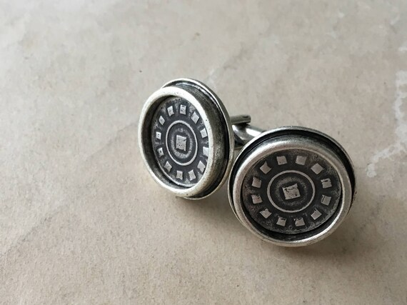 Fathers Day Cuff Links, Silver Cufflinks, Father of the Bride Cuff Links, Suit Accessories
