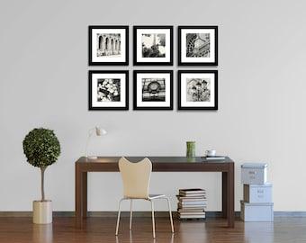 Paris Gallery Wall Art - Black and White Photography - Paris Print Collection - Paris Photographs - French Decor - Square Print - B&W Photos