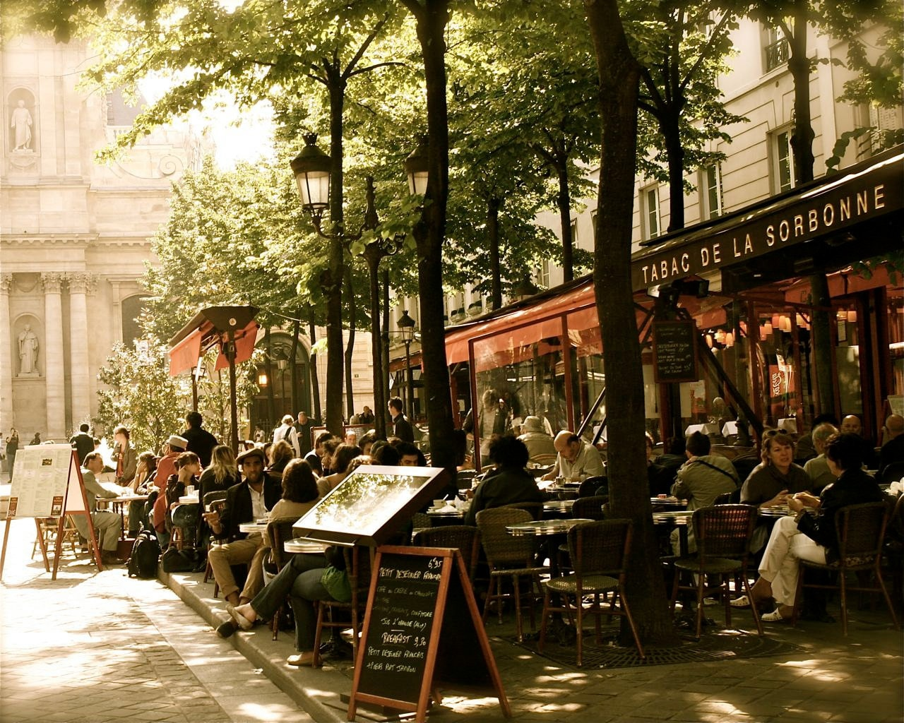 Paris Photography Paris Cafe Photo Tabac De La Sorbonne Print