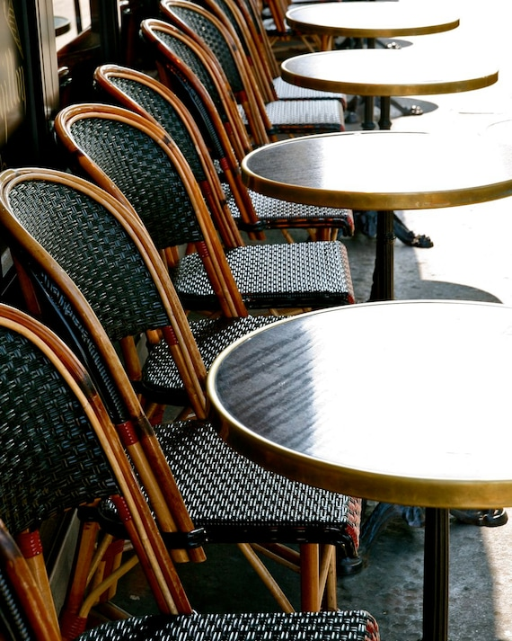 Paris Photography French Cafe Tables Photograph Parisian Etsy - Paris cafe table