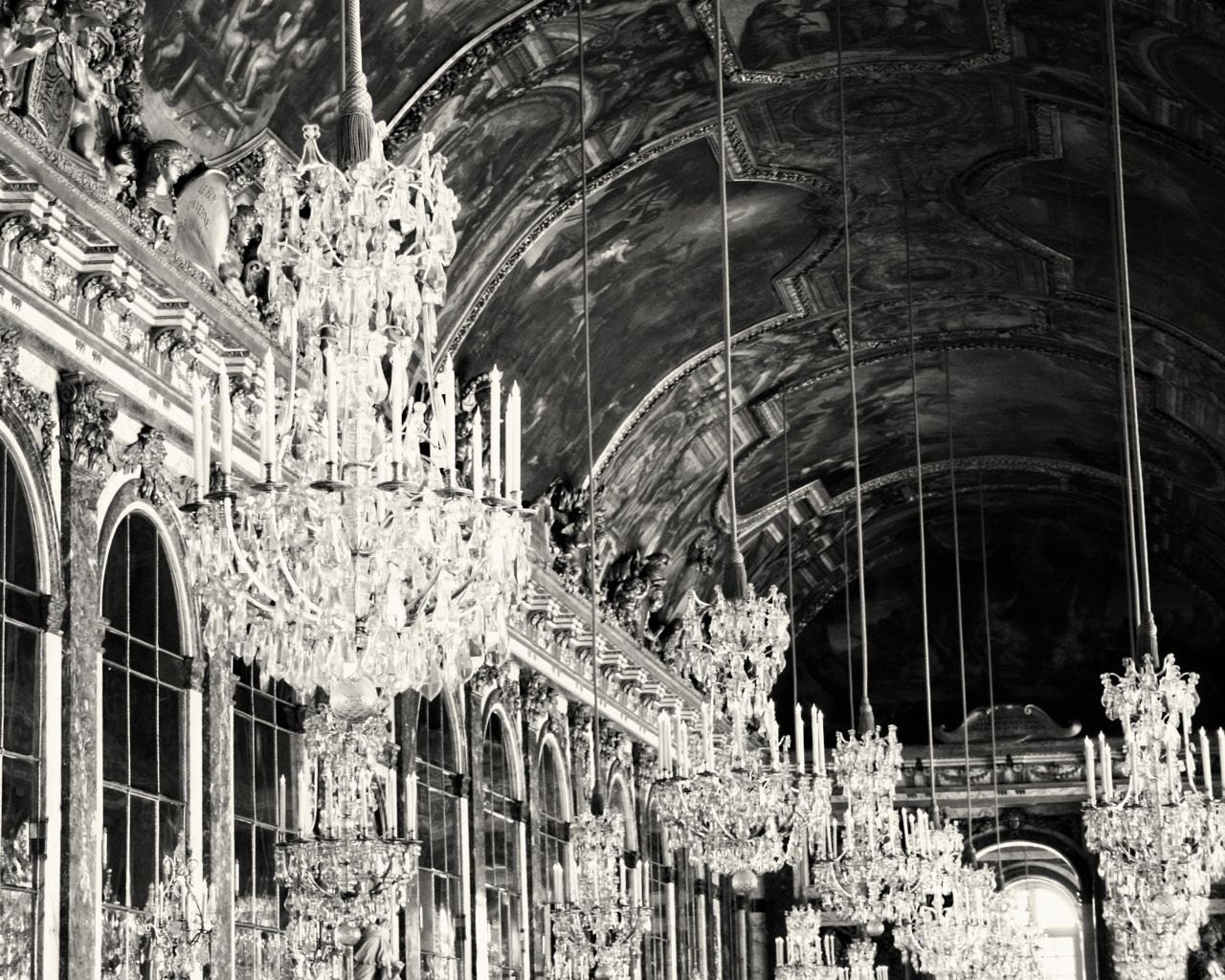 Versailles Photography Hall Of Mirrors Chandelier Print Black And White French Decor Elegant Gallery Wall Art France Photo Dining Room