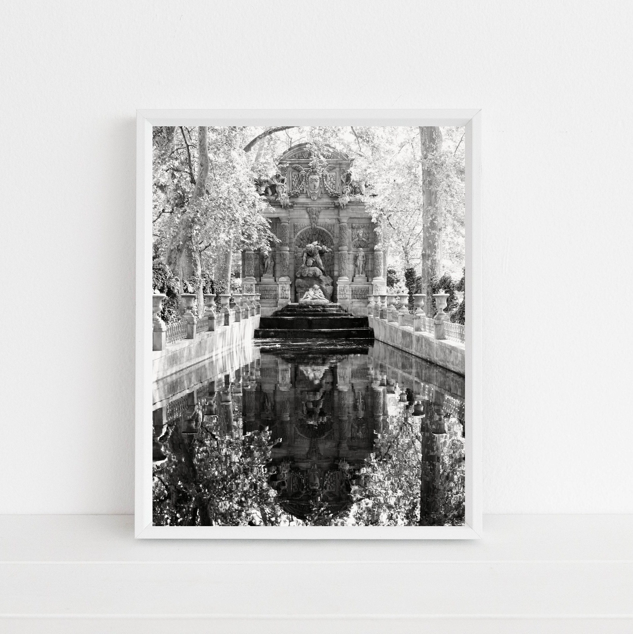 Medici Fountain Print from Gardens of Paris France - Classic