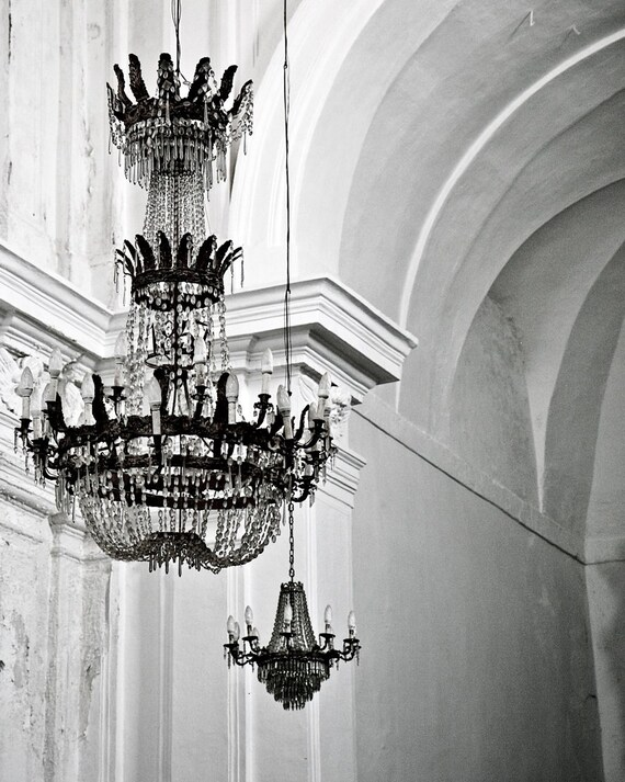 Chandelier photography black and white photography etsy image 0 aloadofball Images