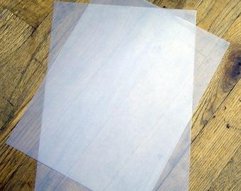 "50 pcs 48 lb. Heavy Weight Vellum Paper Translucent / Transparent  Paper - 8.5""x11"" Printable Clear Cardstock Sheets"
