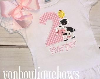 Farm girl birthday outfit barn birthday outfit animal birthday outfit shirt lamb birthday outfit Lamb birthday shirt