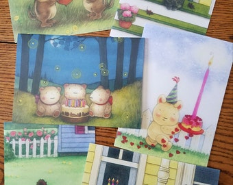 BOXED BIRTHDAY CARDS (6) by Mary Melcher