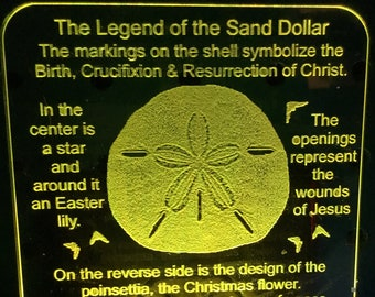 image about Legend of the Sand Dollar Poem Printable titled Sand greenback legend Etsy