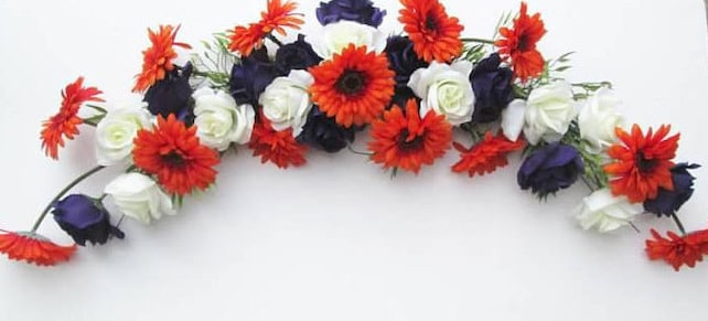 Wedding trellis arch silk flower swag flowers for arches etsy image 0 mightylinksfo