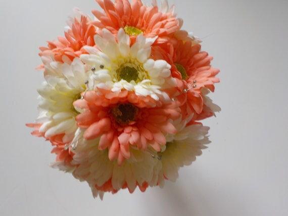 Gerbera Daisy Wedding Bouquet Silk Wedding Bouquet Gerbera | Etsy
