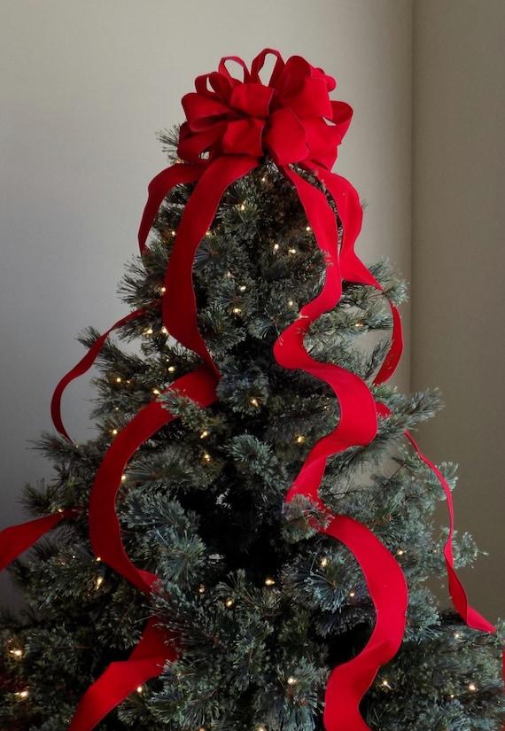 Red Velvet Christmas Ribbon Kit Christmas Decoration Soft Red Ribbon