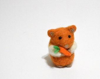Felted Hamster - Needle Felted Animal - Gerbil