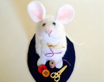 Sewing Mouse - Plush Miniature Mouse