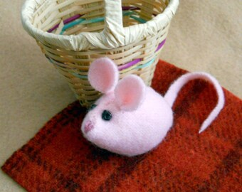 """Mouse Miniature Doll - """"This Little Pink Mouse Wants to Go on a Picnic"""""""