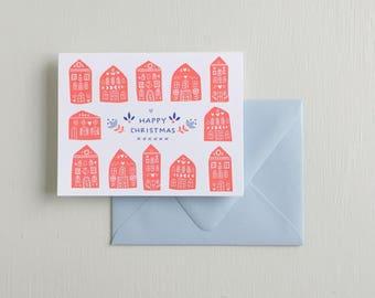 Letterpress Card- Happy Christmas