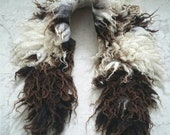 Felted wool scarf collar sheep friendly OOAK Caragh B