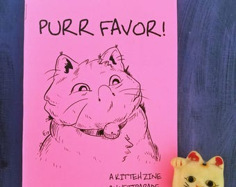 Purr Favor Kitty Cat Illustration and Sketch Zine