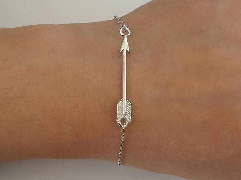 Mother/'s Day Gift Birthday Gift Sterling Silver Arrow Bracelet Bridesmaid Gift Children/'s Jewelry