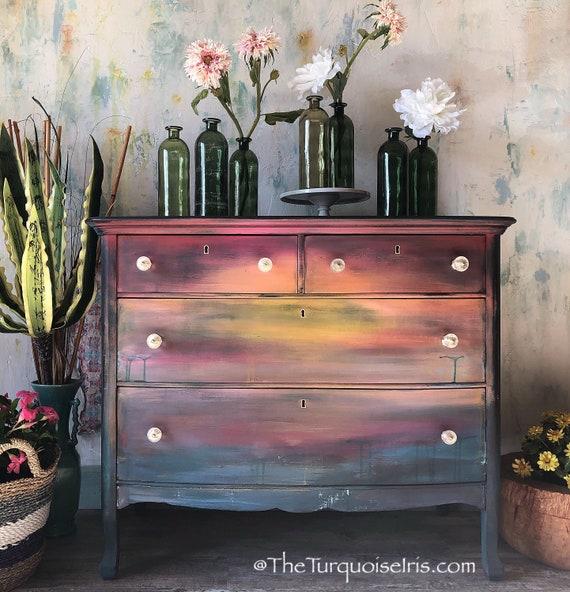 Moody Sunset Dresser