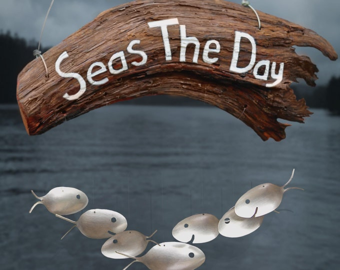 Seas The Daynautical Wood Signage, Gift Ocean Lover, Comical Amusing, Handmade Wood Signs, Woodwind Instrument, Inspirational Quotes Comical