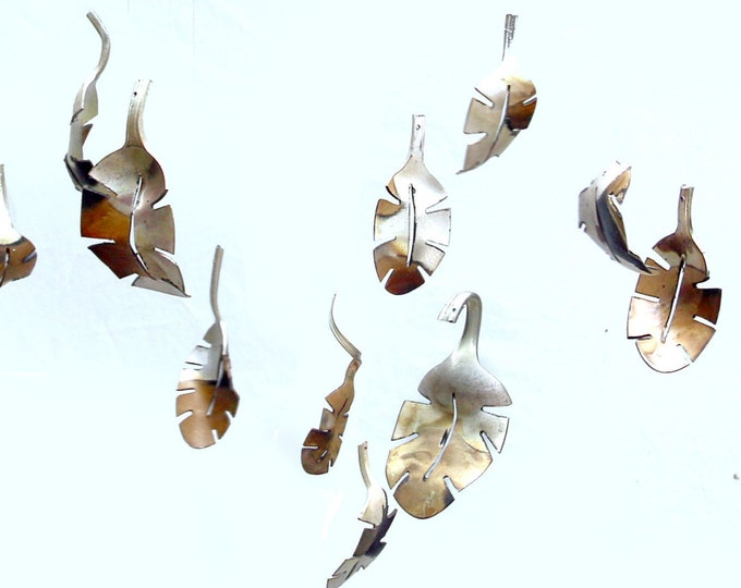 Dozen Falling Leaf Windchime Tree Branch Spoon Leaves, Old Silverware, Silver Vintage Flatware, Upcycled Repurposed Kitchen, Pinterest Etsy