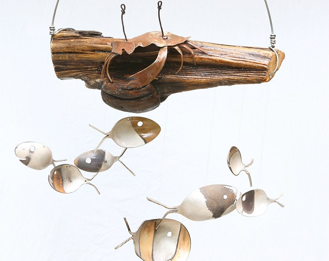 A Little Crabby? Sea Animal Figurine Statues Collectibles Ocean Marine Custom Options Metalwork Wind Chime Claw Beachy Grouchy Man Men Gifts