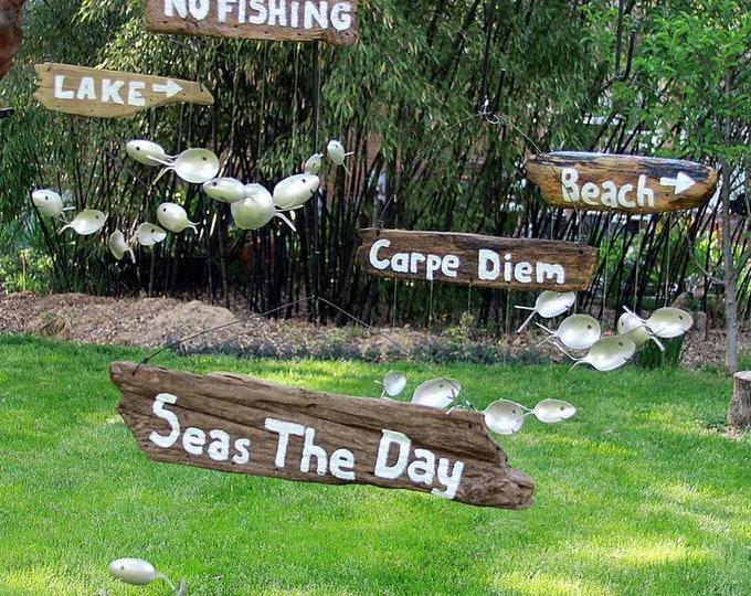 Hand Painted Wood, Pool Lake Decor, Custom Wood Sign, Driftwood Sign, Hanging Wood Sign, Custom Wording, Surf Decor, Hand Painted Wood Sign