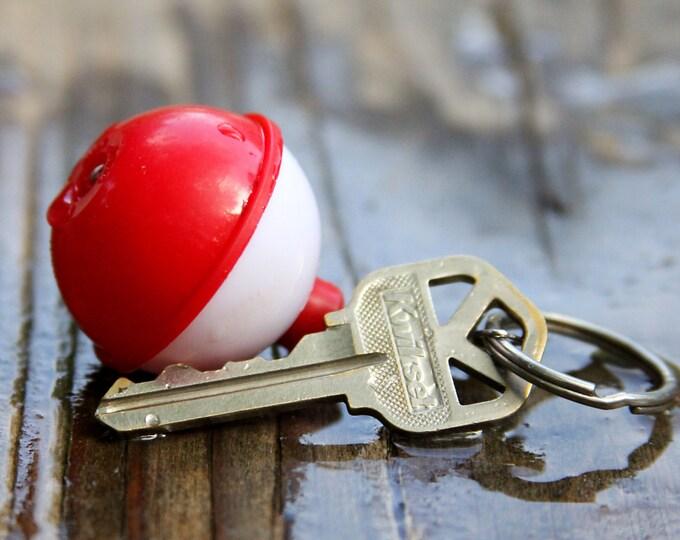 Floating Key Chain, Traditional Bobber Floating, Key Ring Bobber, Friend Gift, Life Saver, Life Preserver, Fisherman Ornament gift
