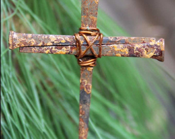 Nail Cross Ornaments - Church Christmas Tree, Pastor Gift, Christian Gift, Antique Style Cross Ornament - Amazing Accent With A Huge Impact!