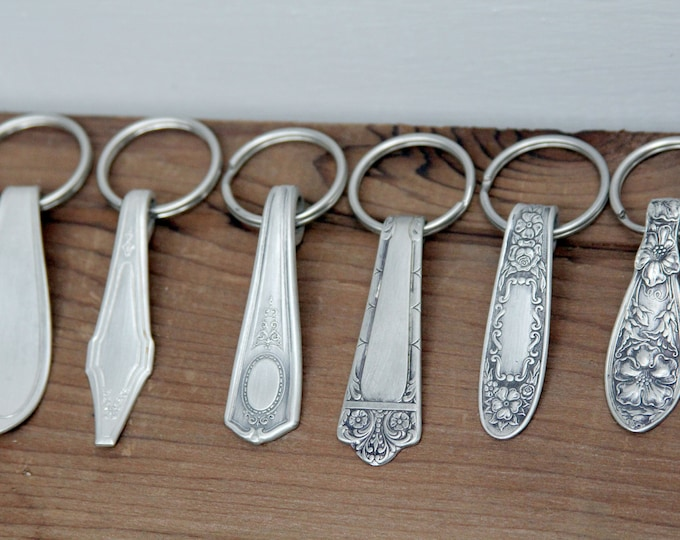 Buy More and Save!  Variety Pack Key Rings - 10 Pack, Antique Silverware Key Chain, New Driver Gift, Easter Basket, Stocking Stuffer