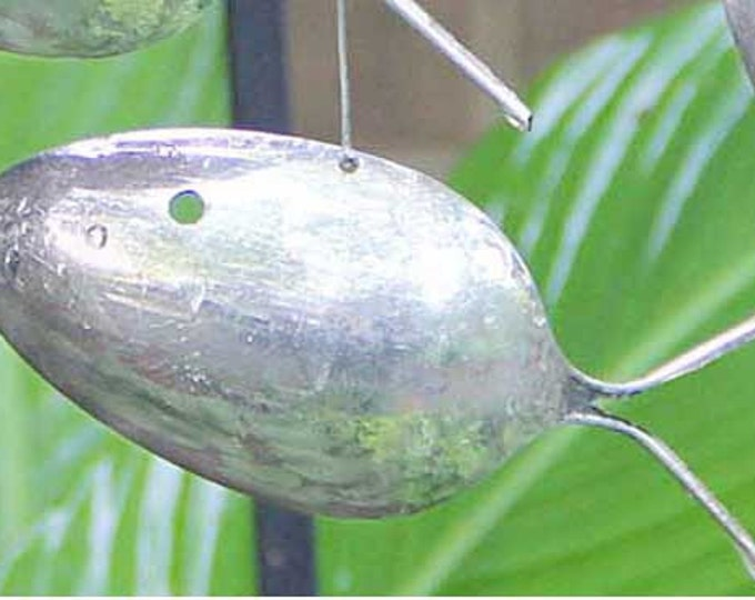 Add A Fish, One Upcycled Spoon Fish For You To Do Whatever You Wish, Fish Pendant, Silver Fish, Spoon Fish, Fish Ornament, Upcycled Yard Art