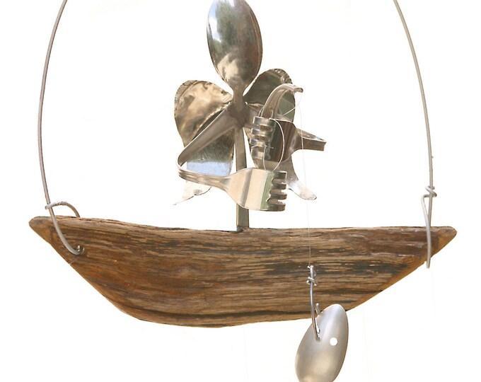 Angel Memorial Remembrance Ornament Sculpture, Brother Of Angel, Mens Memorial Gift, Fisherman Fishing Mobile, Sympathy Gift Man, Memories