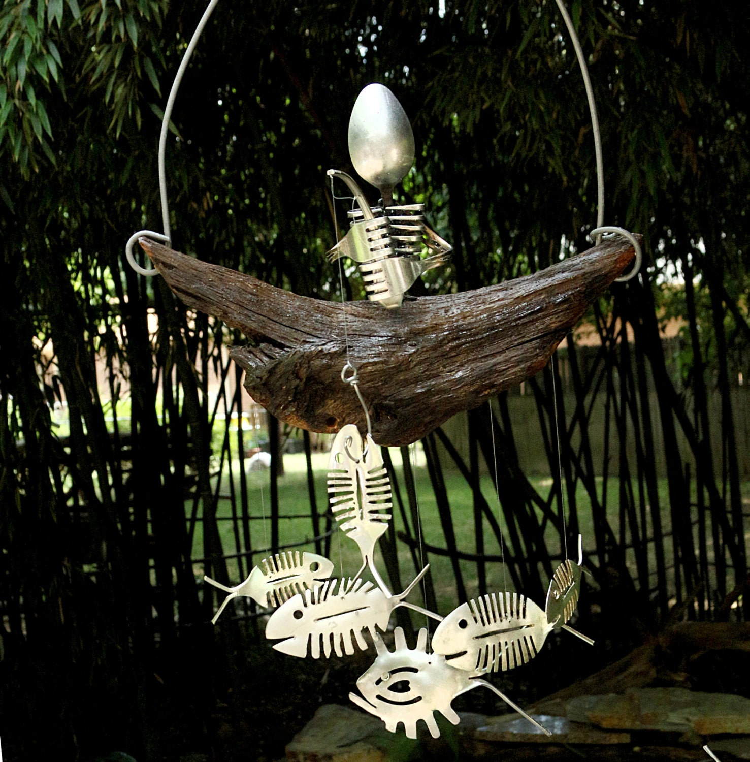 Steam Punk Spoon Skeleton, Bone Fish Chime, Model Figurine, Anatomy ...