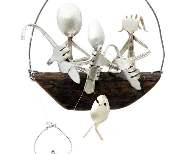 Personalized Christmas Ornament - Custom Name Ornaments - Personalized Gifts - Fisherman Fish Ornament,