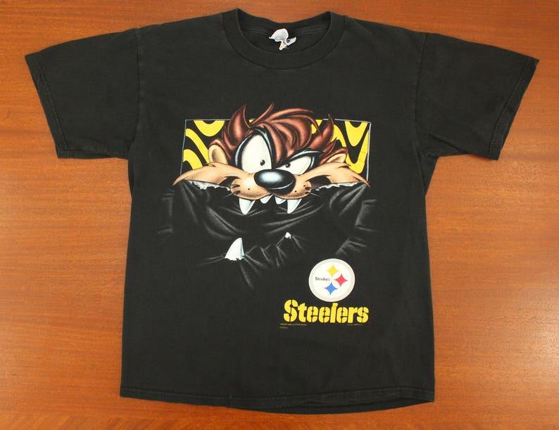Pittsburgh Steelers Taz Tasmanian Devil vintage t-shirt M L  3367d5473